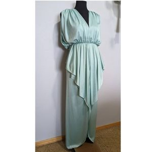 Vintage 1980's to 1990's Aqua Blue High-Low Dress